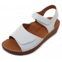 Lamour Des Pieds Women's Yahya In White Lamba Leather