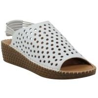 Lamour Des Pieds Women's Yizzy In White Lamba Leather