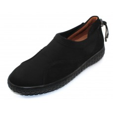 Lamour Des Pieds Women's Zaidee In Black Nubuck/Stretch Microfiber