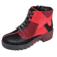 Maciejka Women's 5065 In Red/Black Leather/Suede