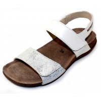 Mephisto Women's Agave In White Silk Leather/Embossed Leather 7830/13368