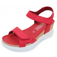 Mephisto Women's Coraly In Red Sandalbuck 6048N