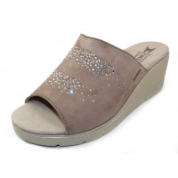 Mephisto Women's Enzia Spark In Light Taupe Velcalf Premium Suede 12218N