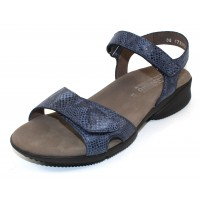 Mephisto Women's Francesca In Navy Savana Reptile Embossed Nubuck 12945