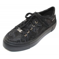 Mephisto Women's Gyna In Black Pixel Embossed Leather 20300/4200