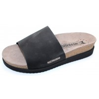 Mephisto Women's Hanik In Black Sandalbuck 6000
