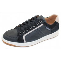 Mephisto Men's Harrison In Navy Grizzly Leather 145/3655