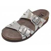 Mephisto Women's Helisa In Silver Edison Embossed Leather 14168