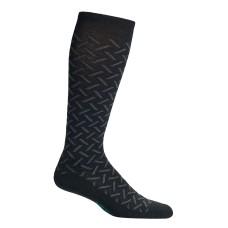 Mephisto Herringbone Compression Sock In Black