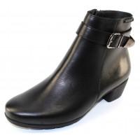 Mephisto Women's Idalie In Black Silk Leather 7800