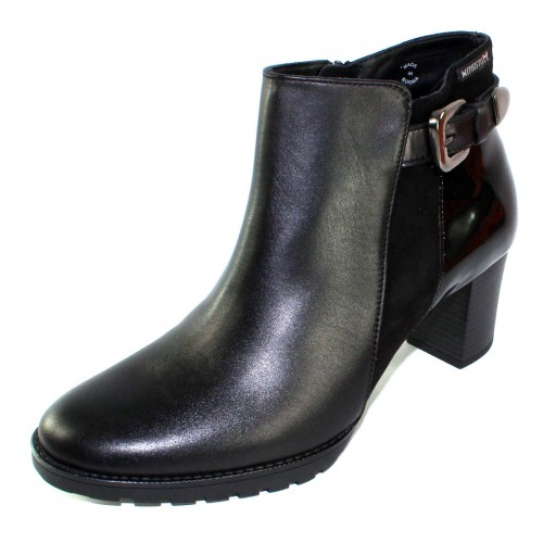 Mephisto Women's Jaimie In Black Leather/Suede/Patent Leather 15100/12200/4200