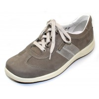 Mephisto Women's Laser Perf In Grey Nubuck 5405/10868
