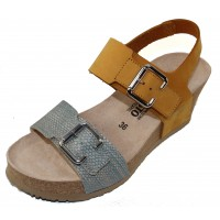 Mephisto Women's Lissandra In Ochre Sandalbuck/Zambie Embossed Leather 6047/37091