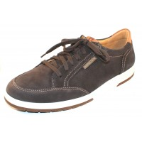 Mephisto Men's Ludo In Graphite Sportbuck/Hazelnut Mano Leather 1959/3535