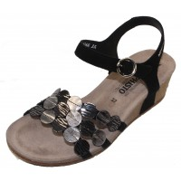 Mephisto Women's Matilde In Black Velcalf Suede/Embossed Leather 12200/00/03