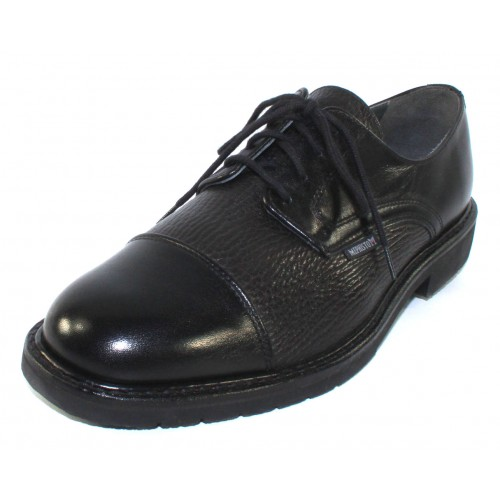 Mephisto Men's Melchior In Black Smooth/Grain Leather
