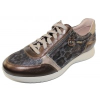 Mephisto Women's Monia In Bronze Empire Leather/Printed Suede 9217/17/65