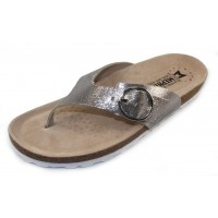 Mephisto Women's Natalina In Silver Venise Embosssed Metallic Leather 19168
