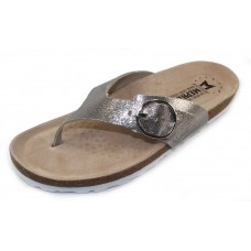Mephisto Women's Natalina In Silver Vernise Embosssed Metallic Leather 19168