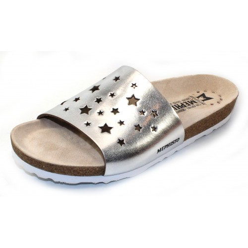 Mephisto Women's Nora Star In Nickel Star Metallic Leather 42033