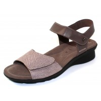 Mephisto Women's Pattie In Dark Grey Silk Leather/Dark Taupe Python Printed Suede 7852/7565