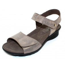 Mephisto Women's Pattie In Dark Taupe Embossed Metallic Leather 5165/3765