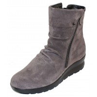 Mephisto Women's Phila In Grey Velcalf Suede 12203