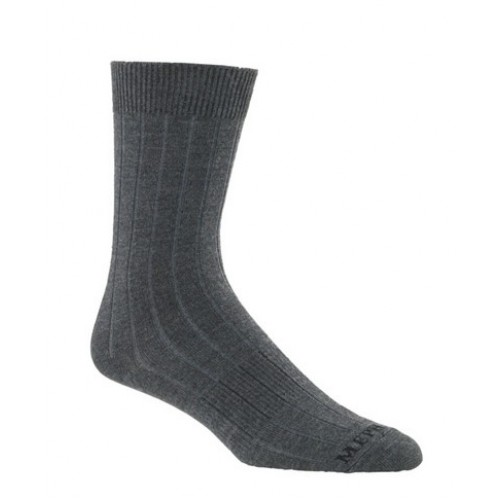 Mephisto Phoenix Ribbed Crew Sock In Charcoal