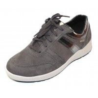 Mephisto Women's Rebeca In Grey Bucksoft/Metallic Leather 6903/30003
