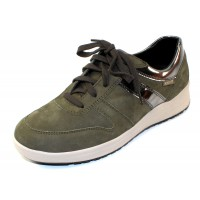 Mephisto Women's Rebeca In Khaki Green Bucksoft/Grey Magic 6994/30003
