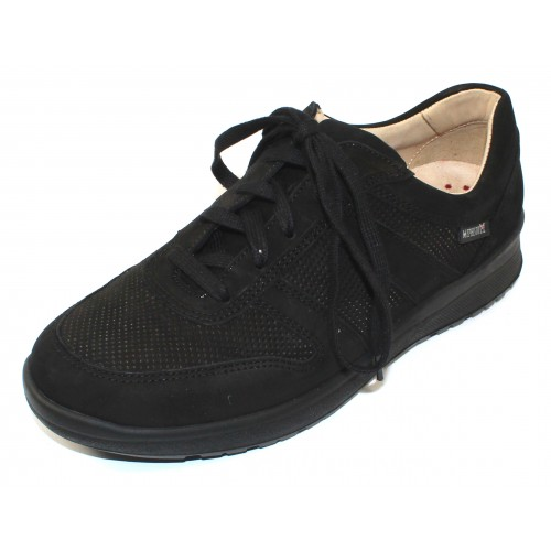 Mephisto Women's Rebeca Perf In Black Bucksoft 6900