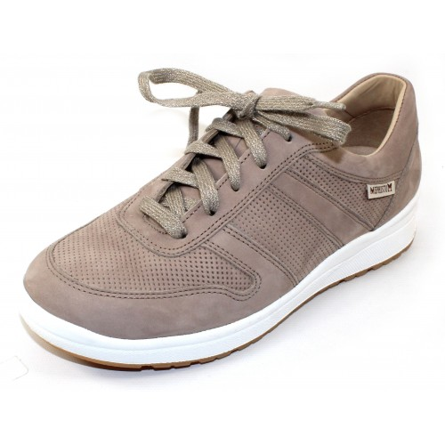 Mephisto Women's Rebeca Perf In Light Taupe Bucksoft 6918