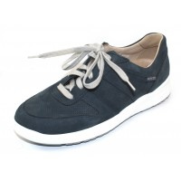 Mephisto Women's Rebeca Perf In Navy Bucksoft 6945