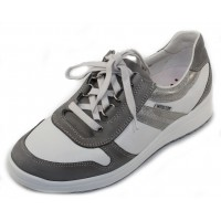Mephisto Women's Ruby In Steel Bucksoft/White Leather 6908/9230/C