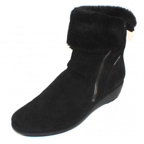 Mephisto Women's Seddy Winter In Black Velcalf 12200