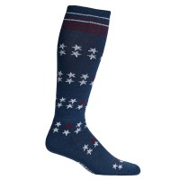 Mephisto Stars Compression In Navy/White/Burgundy