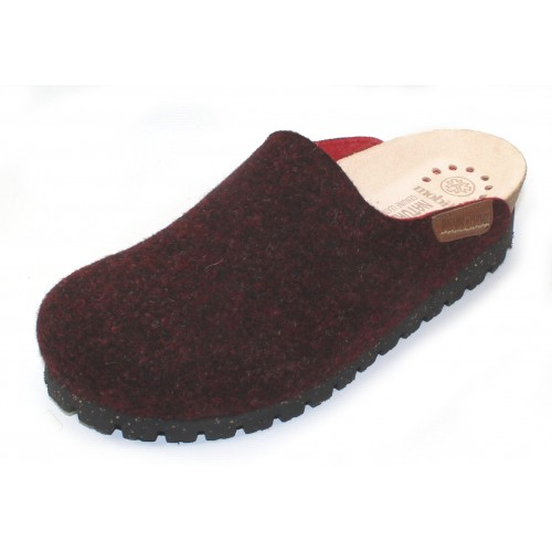 Mephisto Women's Thea Mobils In Burgundy Boiled Wool/Red Fabric 645
