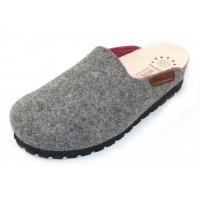Mephisto Women's Thea Mobils In Grey Boiled Wool/Pink Sweet Fabric 036