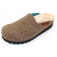 Mephisto Women's Thea Mobils In Taupe Boiled Wool/Turquoise Sweet Fabric 277