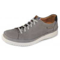 Mephisto Men's Thomas In Light Grey Nomad Suede/Navy Randy Leather 25505/6145
