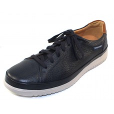 Mephisto Men's Thomas In Navy Grain Leather/Hazelnut Leather 1345/6135