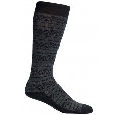 Mephisto Tribal Compression Sock In Charcoal/Black