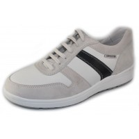 Mephisto Men's Vito In Off White Velsport Suede/Leather/Navy 3680/30/45