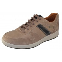 Mephisto Men's Vito In Warm Grey Velsport Suede/Leather/Navy Leather 3660/18/45