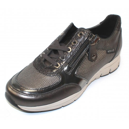 Mephisto Women's Ylona In Grey Perlized Calf/Metallic Embossed Python Printed/Metallic Patent Leather 10103/7508