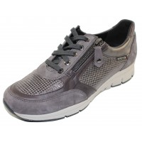 Mephisto Women's Ylona In Grey Suede/Smooth Leather/Printed Suede 12203/52/59/03