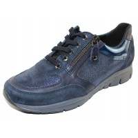 Mephisto Women's Ylona In Navy Blue Suede/Smoothleather/Printed Suede 12245/45/45/55