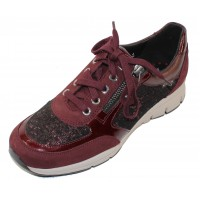 Mephisto Women's Ylona In Wine Suede/Patent Leather/Embossed Suede 6970N/28074/C9974