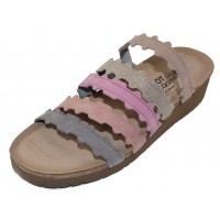 Naot Women's Adina In Stone Nubuck/Speckled Beige Leather/Lilac/Mauve Nubuck/Smoke Gray Leather