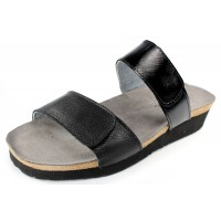 Naot Women's Althea In Soft Black Leather/Black Luster Leather